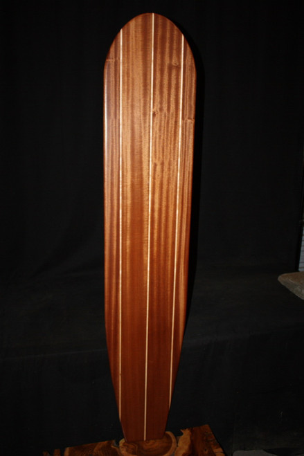 "Triple Stringer Surfboard 63"" X 12"" Hawaiian Vintage 