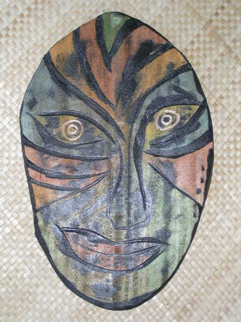 "MODERN TIKI MASK 21"" - HAND PAINTED & CARVED - ABSTRACT 2"