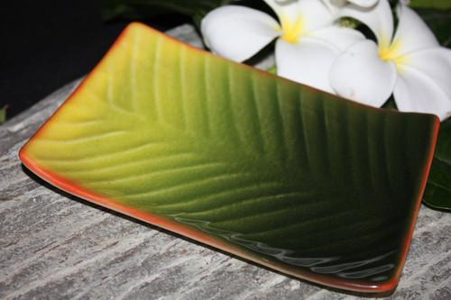 "Banana Leaf Ceramic Mini Dish Plate 5""X7"" - Hawaii | #TCBLR"