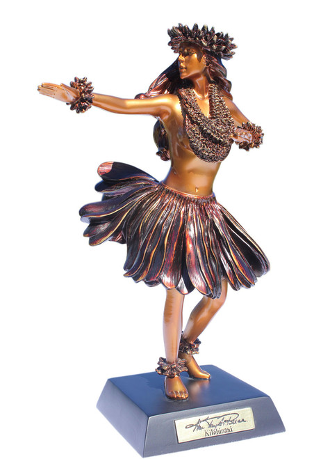 """Kiloahinani"" Hula Dancer Hawaiian Tradition - Kim Taylor Reece Statue"