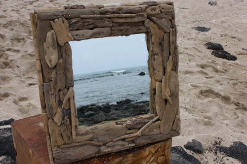 "Driftwood Square Mirror 16""x16"" - Coastal Living"