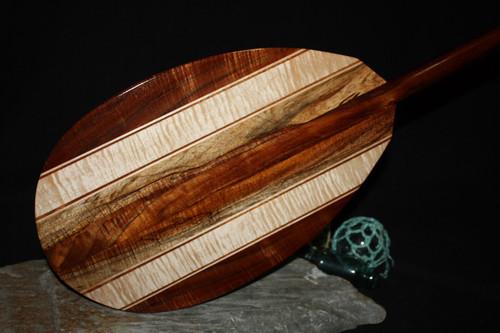 "Hawaiian Koa Paddle w/ Inlay 50"" Oahu Built   #koa4438"