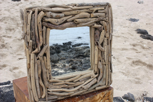 "Driftwood Square Mirror 16""x16"" - Coastal Living 