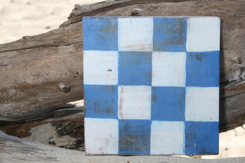 """N"" NAUTICAL RUSTIC FLAG 8' X 8' - WOOD PANEL - NAUTICAL DECOR"