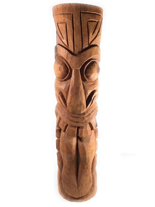 "Maori Outdoor Tiki Totem 40"" - Natural Finish 