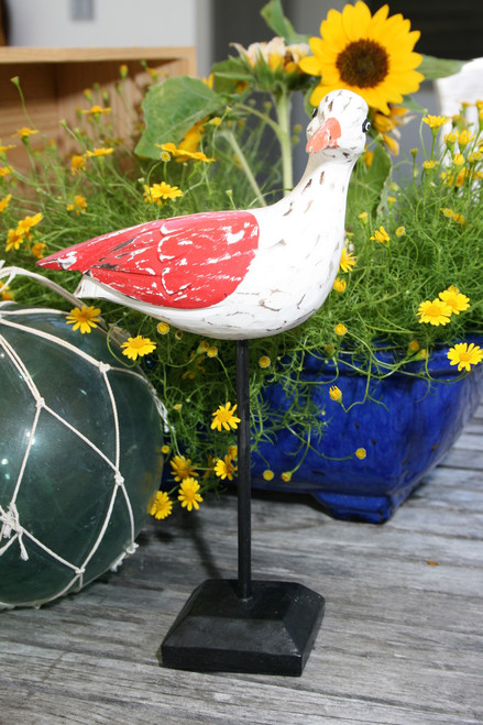 """SEAGULL BIRD"" - RUSTIC RED COASTAL 14"" - GARDEN/HOME DECOR 2"