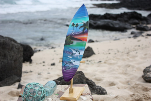 "Surfboard w/ Stand Island Lifestyle Design 16"" - Trophy"