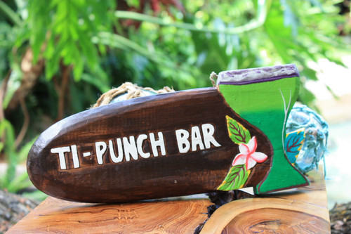 """Ti-Punch Bar"" Margarita Sign - Tiki Bar Decor"