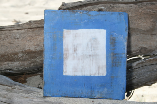 """P"" NAUTICAL RUSTIC FLAG 8' X 8' - WOOD PANEL - NAUTICAL DECOR"