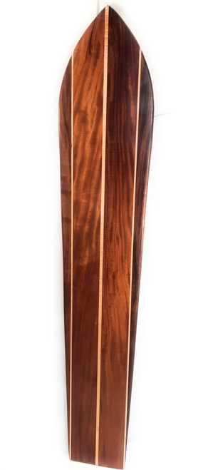 "Triple Stringer Koa Surfboard 72"" X 13.5"" Hawaiian Vintage | #koalb15"
