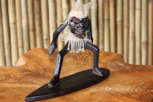 "CRAZY TIKI DUDE ""SURFING AT PIPELINE"" - PRIMITIVE DECOR"