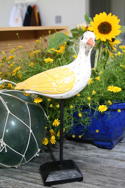 """SEAGULL BIRD"" - RUSTIC YELLOW COASTAL 14"" - GARDEN/HOME DECOR 3"