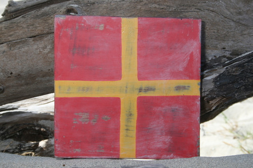 """R"" NAUTICAL RUSTIC FLAG 8' X 8' - WOOD PANEL - NAUTICAL DECOR"