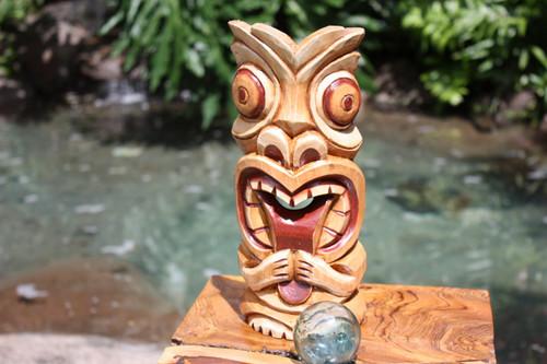 "Big Kahuna Tiki Mask 12"" - Hawaiian Tiki Bar Decor"