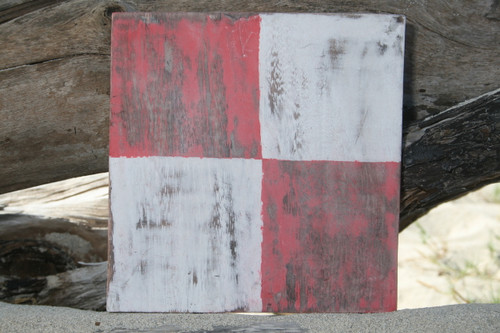 """U"" NAUTICAL RUSTIC FLAG 8' X 8' - WOOD PANEL - NAUTICAL DECOR"