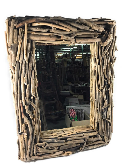 "Driftwood Mirror 32"" X 24"" - Coastal Living | #lis31005a"