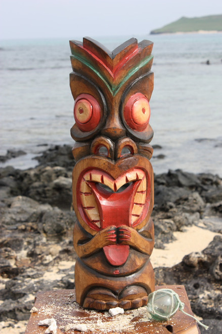 "Big Kahuna Tiki Mask 20"" - Hawaiian Tiki Bar Decor 2"