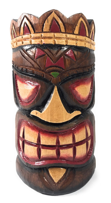 "Smiley Tiki Mask 8"" - Ohana Polynesian Art 