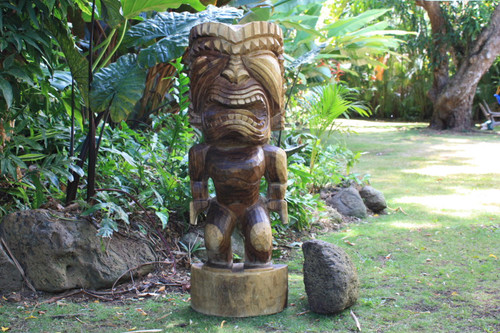 "Premium Tiki Ku - 40"" Strength - Hawaiian Mythology 