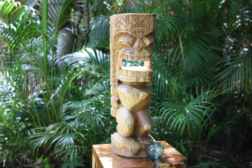 "Carved Ku Tiki 20"" - Outdoor Tiki - Island Art 
