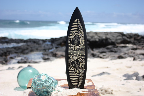 "Surfboard w/ Swimming Turtles 16"" - Trophy"
