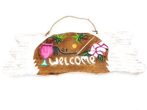 Welcome  Sign w/ Diamond Head Sunset Sign - Tropical Decor | #snd2504950