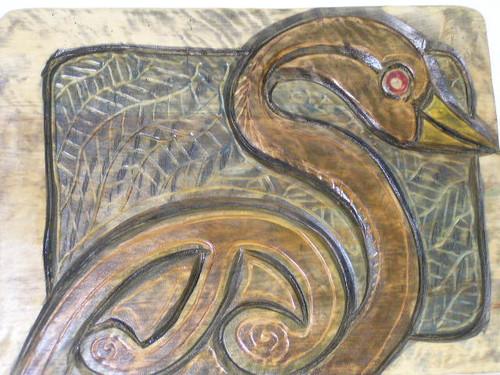 HAWAIIAN ENDANGERED BIRD - WOOD CARVED TIKI