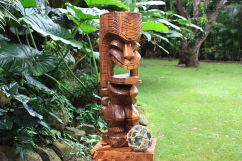 Warrior Ku Tiki Sculpture 26 in - Hand Carved | Hawaii Museum | #yda1100460