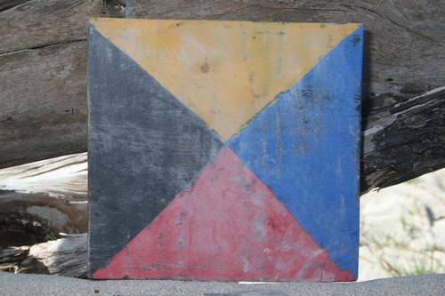 """Z"" NAUTICAL RUSTIC FLAG 8' X 8' - WOOD PANEL - NAUTICAL DECOR"