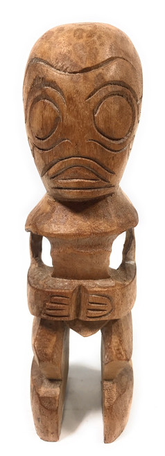"Fisherman's Good Luck Tiki Totem 8"" Natural 