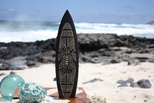 "Surfboard w/ Tribal Turtle 16"" - Trophy"