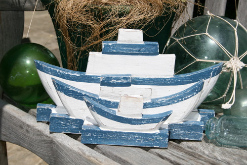 "NAUTICAL NAPKINS/LETTER HOLDER BLUE 12"" - NAUTICAL DECOR"
