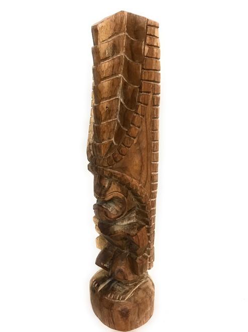 "Tiki Kona Style Lono 20"" - Natural Hawaii Museum Replica | #yda1103250n"