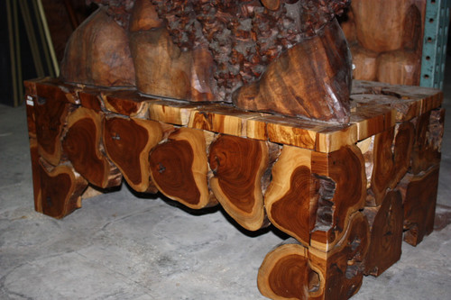 "Teak Root Coffee Table 20"" X 40"" X 24"" - Bali Art Decor"