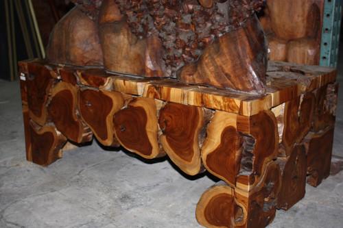 "Teak Root Coffee Table 20"" X 40"" X 24"" - Bali Art Decor"