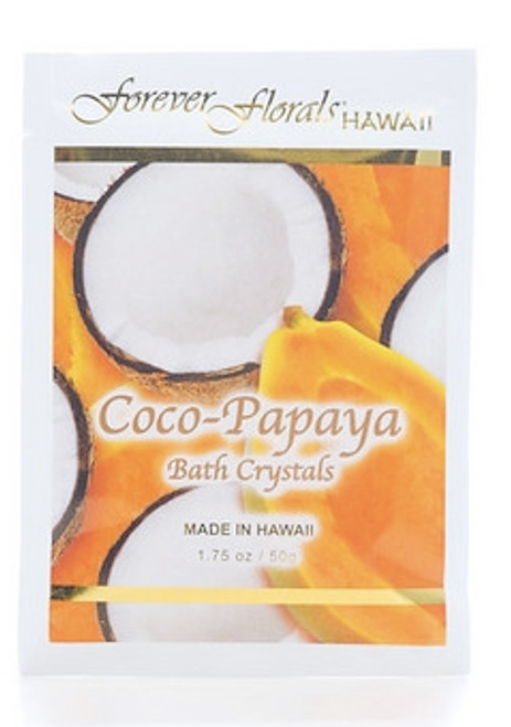 COCO PAPAYA BATH CRYSTALS - ISLAND BATH MINERAL SPA