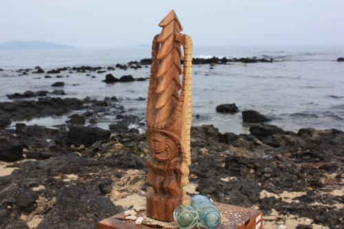 """Tiki Kona Style Akua Kai 20"""" - Natural Hawaii Museum Replica - Ocean Tiki"""