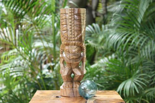 "Hurricane Tiki Totem 12"" Natural - Tropical Decor"