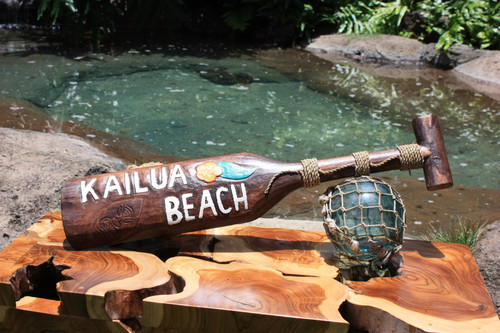 """Kailua Beach"" Surf Sign Hanging Paddle 24inch - Aloha"
