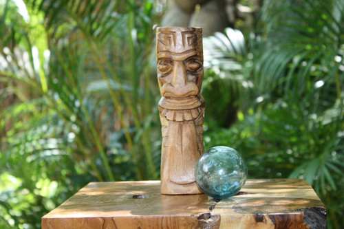 "Maori Tiki Totem 8"" Natural - Hawaiian Tiki Bar Decor"