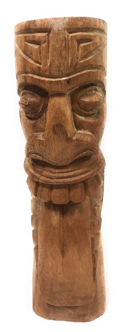 "Maori Tiki Totem 8"" Natural - Hawaiian Tiki Bar Decor 