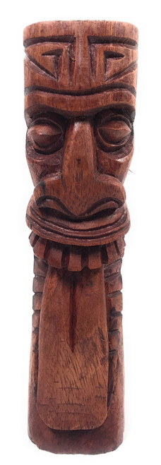 "Maori Tiki Totem 8"" Stained - Hawaiian Tiki Bar Decor 