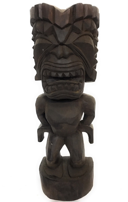 "Ku Tiki 20"" - Walnut Stain - Traditional Hawaii Museum Replica 