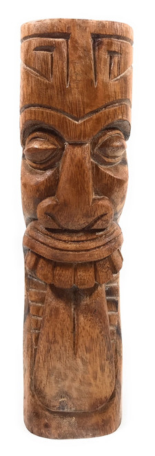 "Maori Tiki Totem 12"" Natural - Tropical Decor 