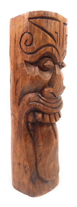 "Maori Tiki Totem 12"" Stained - Warrior Strength Tiki 
