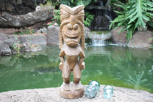 "Big Island Ku Tiki 24"" - Traditional Hawaii Museum Replica"