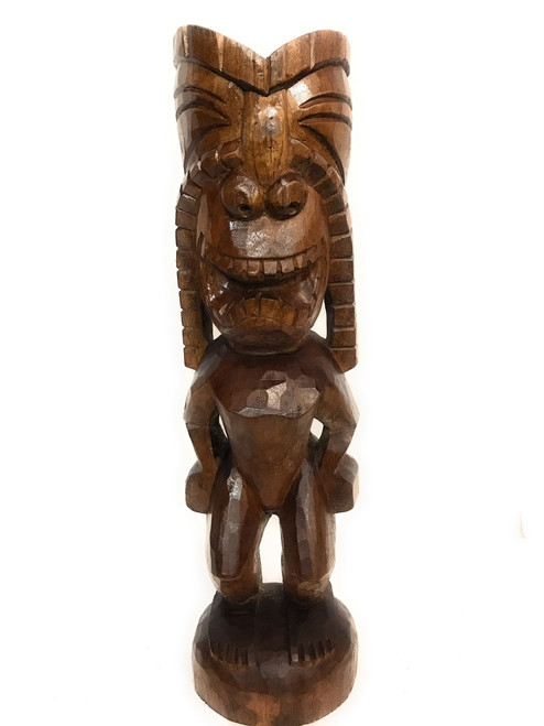 "Big Island Ku Tiki 24"" - Traditional Hawaii Museum Replica 