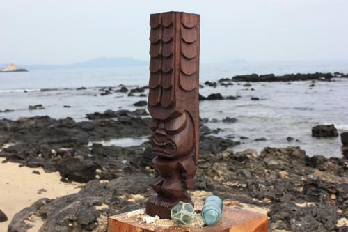 """Tiki Kona Style Kane 12"""" - Stained Hawaii Museum Replica"""
