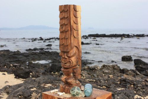 "Tiki Kona Style Kane 20"" - Natural Hawaii Museum Replica"