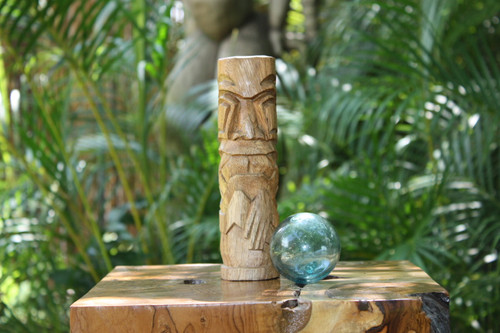 "Kailua Tiki Totem 8"" Natural - Hawaiian Tiki Bar Decor"